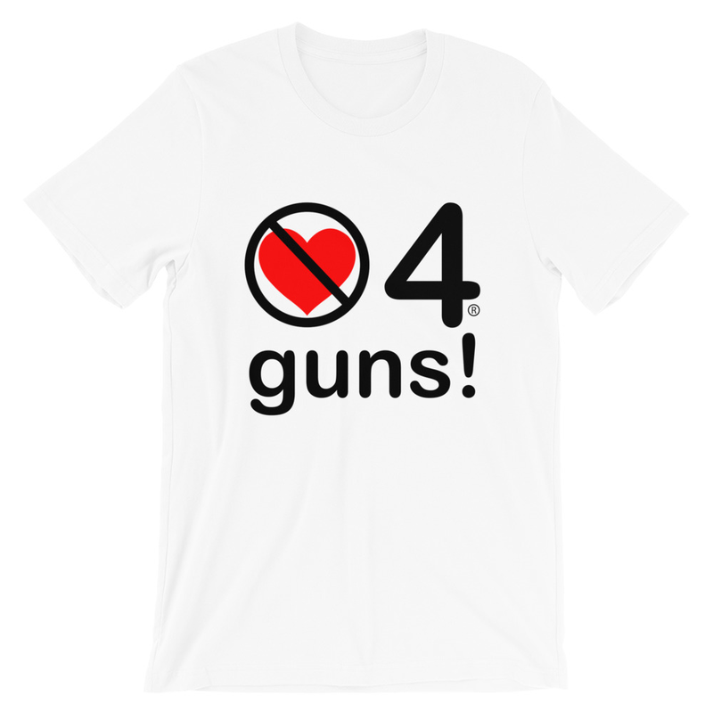 no love 4 guns! - White Short-Sleeve Unisex T-Shirt