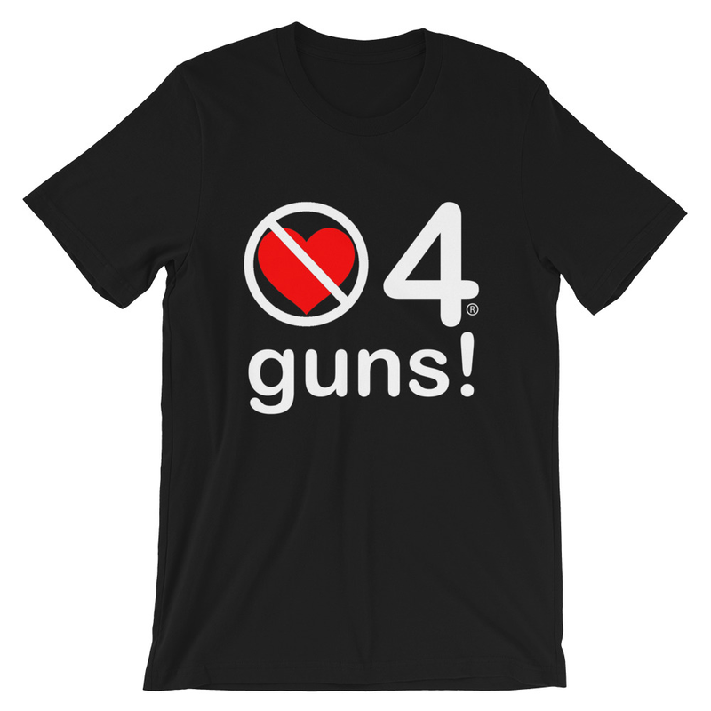 no love 4 guns! - Black Short-Sleeve Unisex T-Shirt
