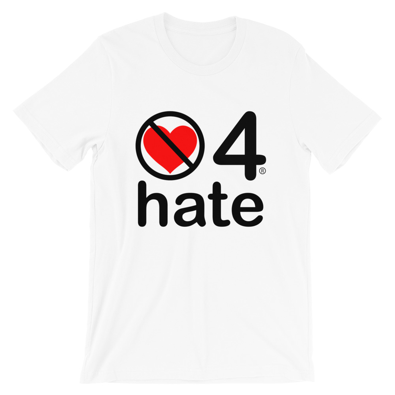 no love 4 hate - White Short-Sleeve Unisex T-Shirt