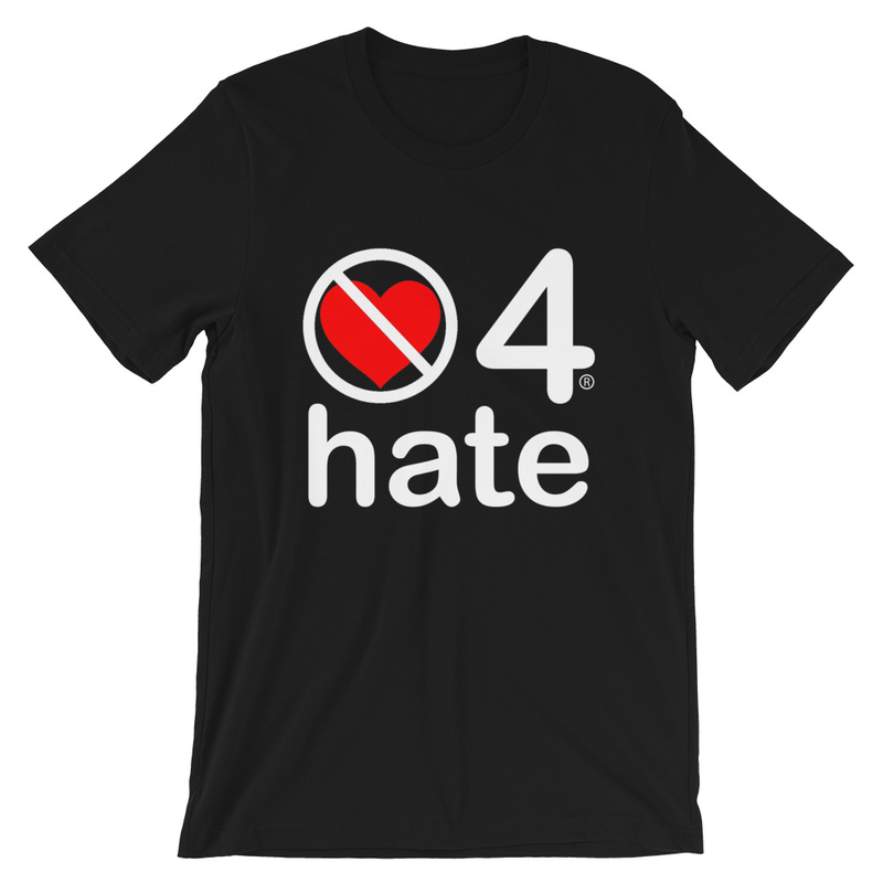 no love 4 hate - Black Short-Sleeve Unisex T-Shirt