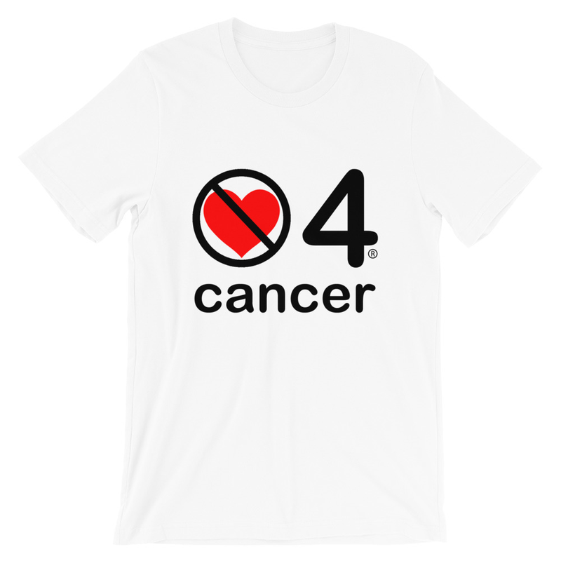 no love 4 cancer - White Short-Sleeve Unisex T-Shirt