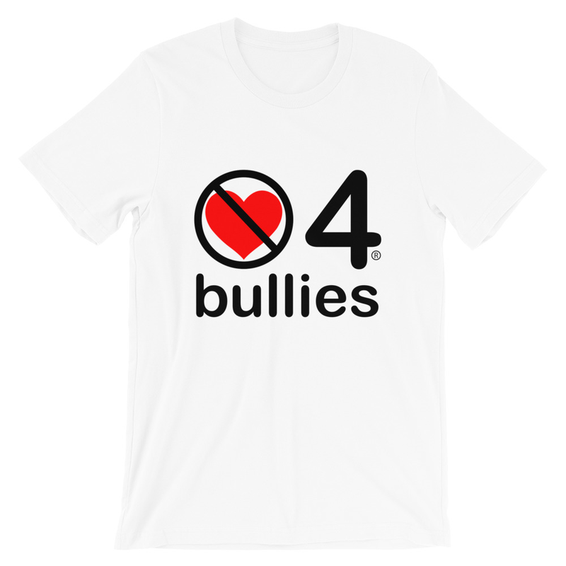 no love 4 bullies - White Short-Sleeve Unisex T-Shirt
