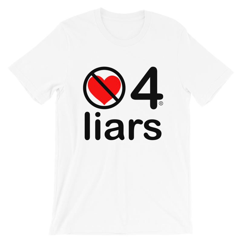 no love 4 liars - White Short-Sleeve Unisex T-Shirt