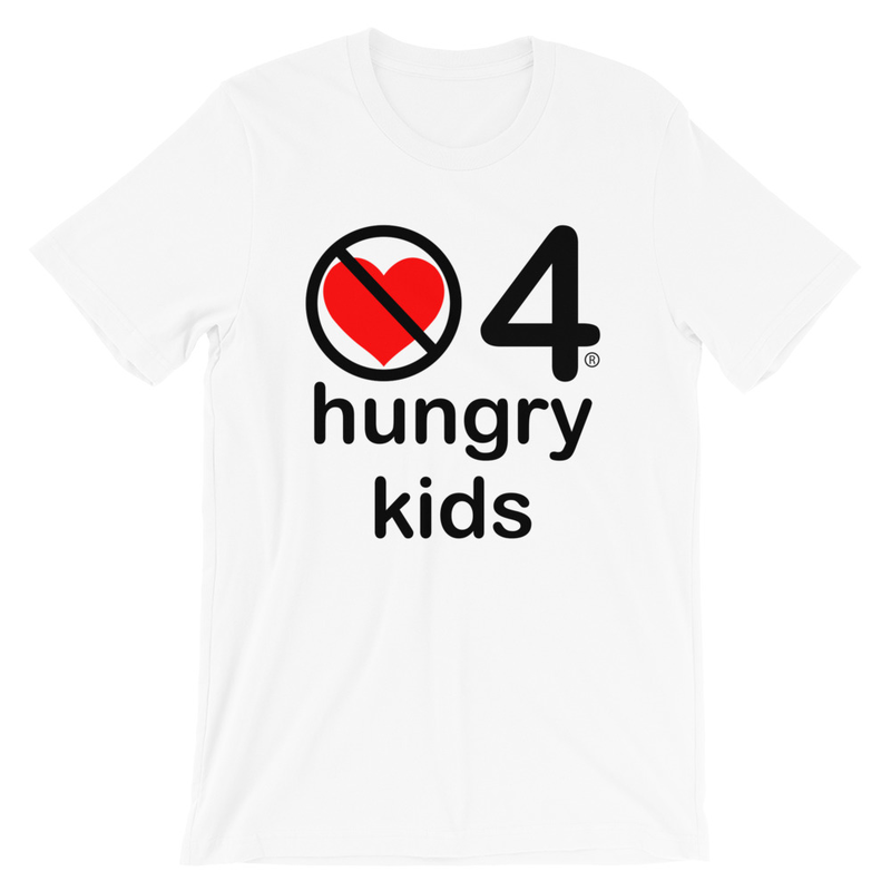 no love 4 hungry kids - White Short-Sleeve Unisex T-Shirt