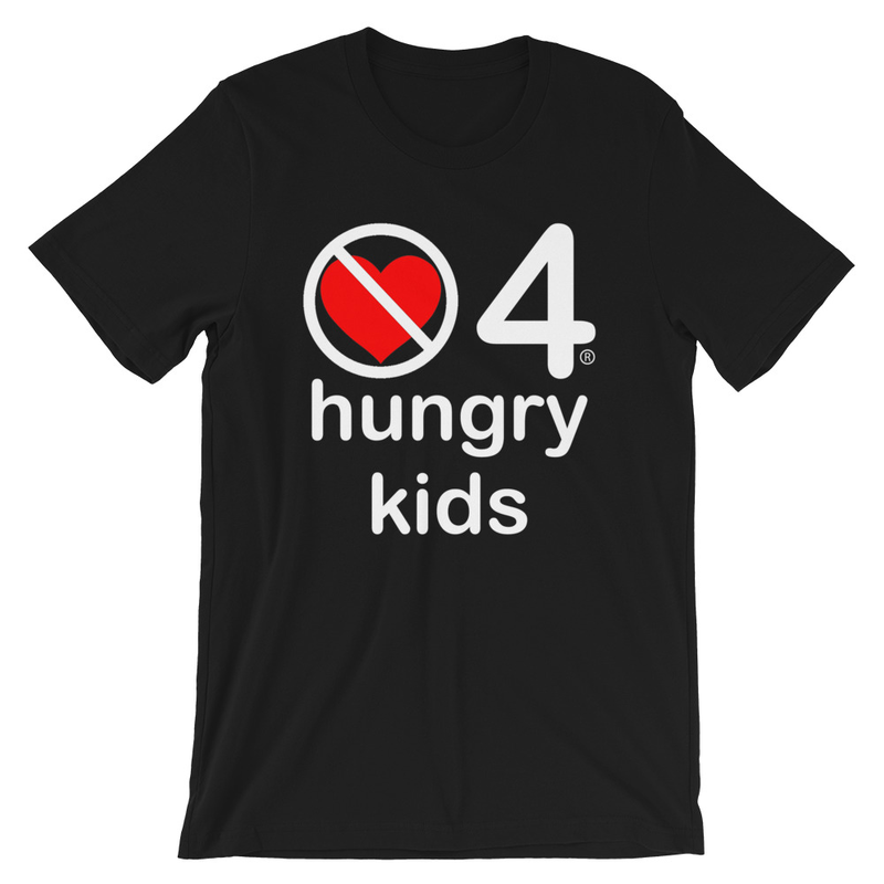 no love 4 hungry kids - Black Short-Sleeve Unisex T-Shirt