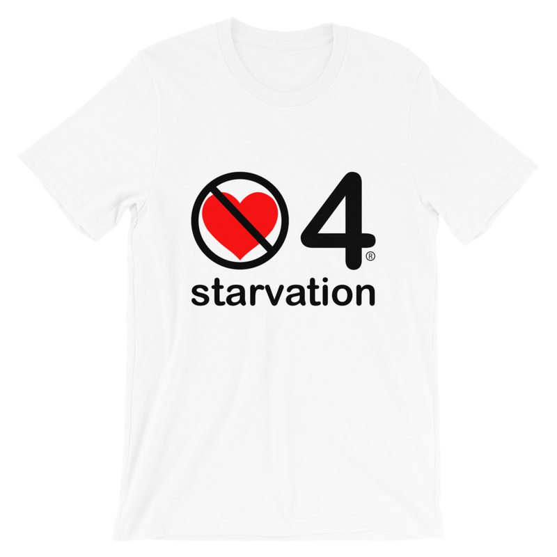 no love 4 starvation - White Short-Sleeve Unisex T-Shirt