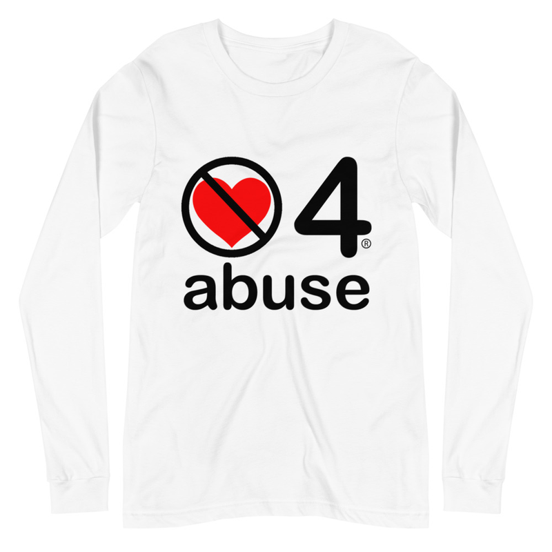 no love 4 abuse - White Unisex Long Sleeve Tee