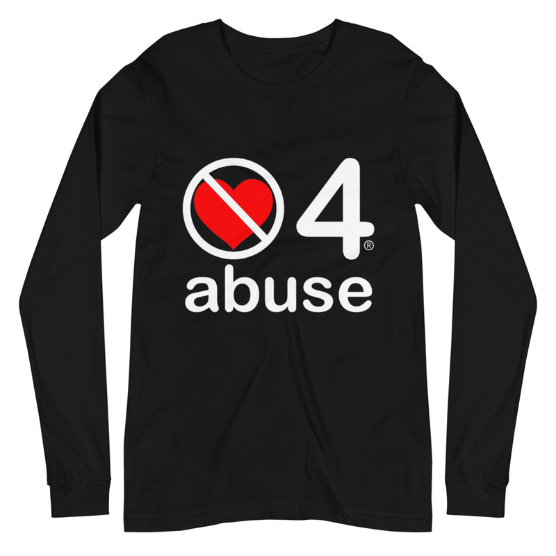 no love 4 abuse - Black Unisex Long Sleeve Tee