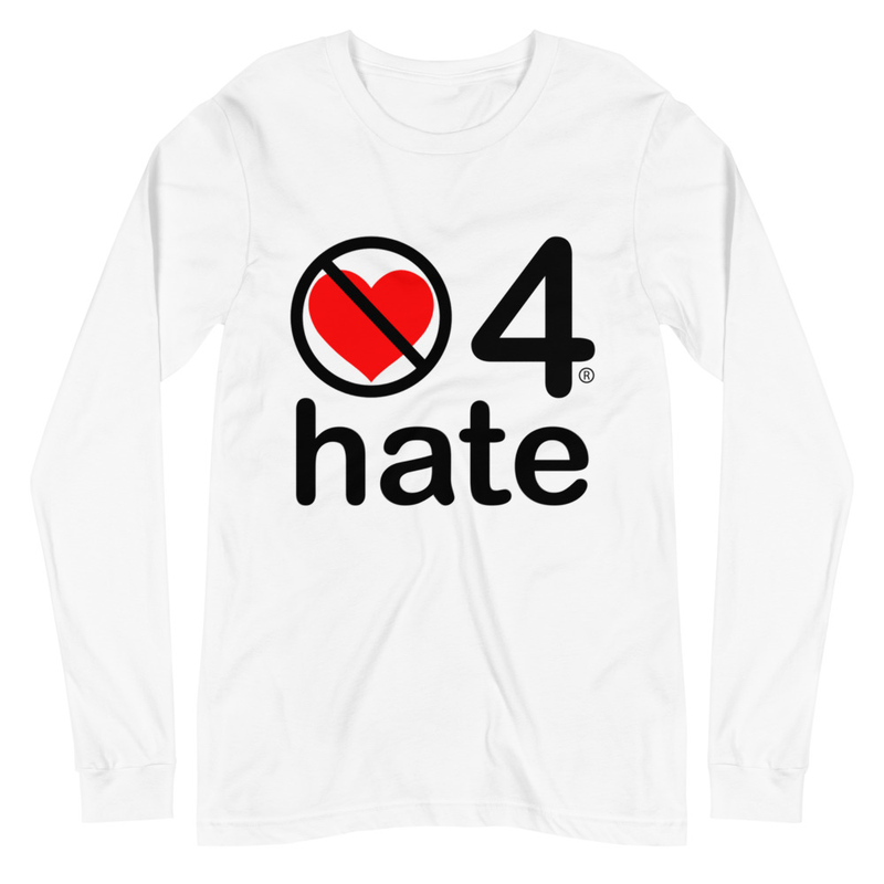 no love 4 hate - White Unisex Long Sleeve Tee