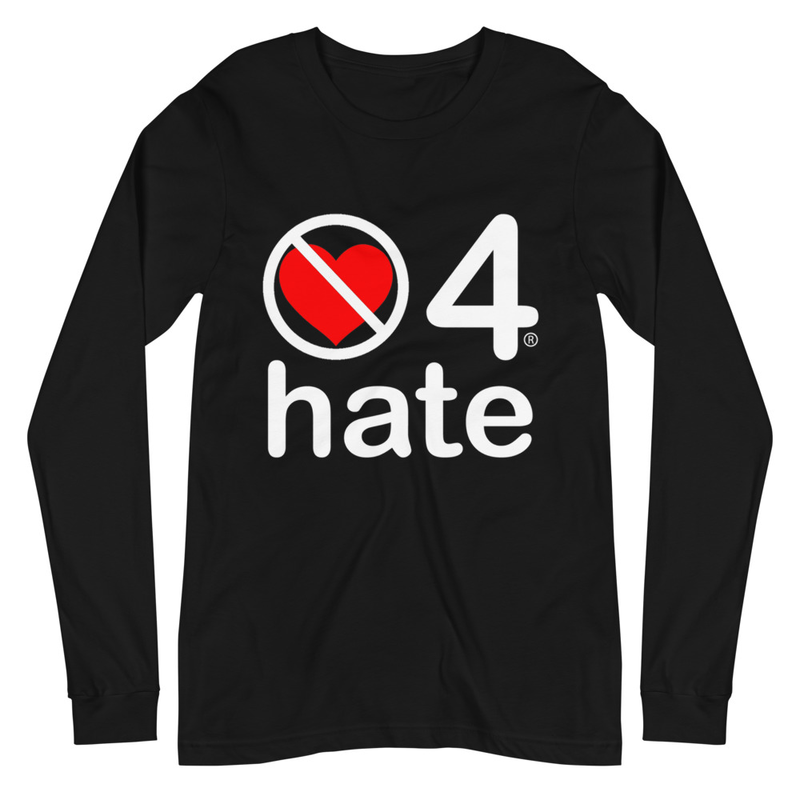 no love 4 hate - Black Unisex Long Sleeve Tee