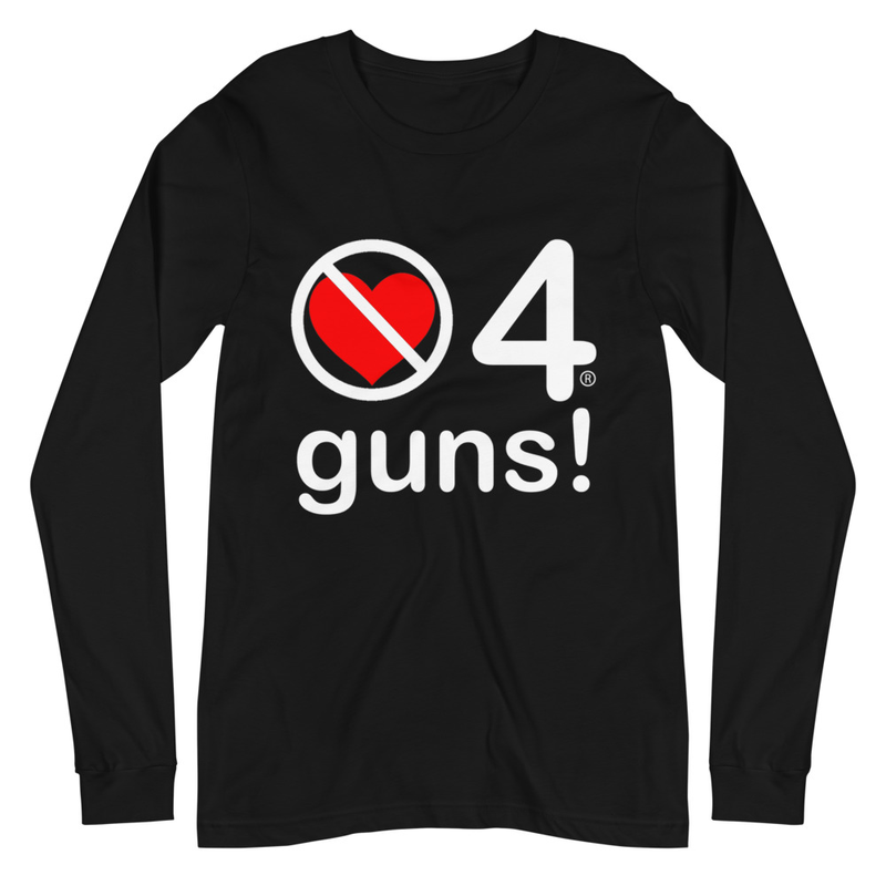 no love 4 guns! - Black Unisex Long Sleeve Tee
