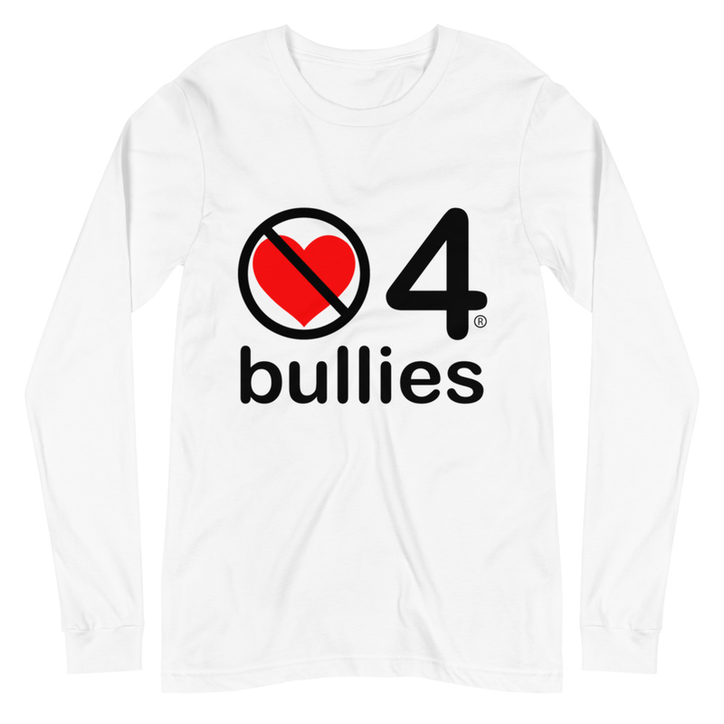 no love 4 bullies - White Unisex Long Sleeve Tee