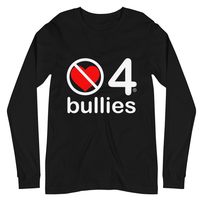 no love 4 bullies - Black Unisex Long Sleeve Tee