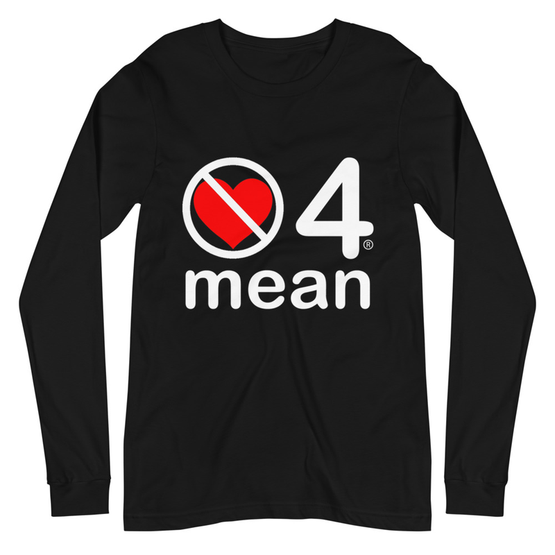 no love 4 mean - Black Unisex Long Sleeve Tee