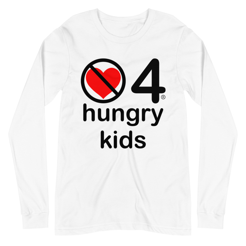 no love 4 hungry kids - White Unisex Long Sleeve Tee