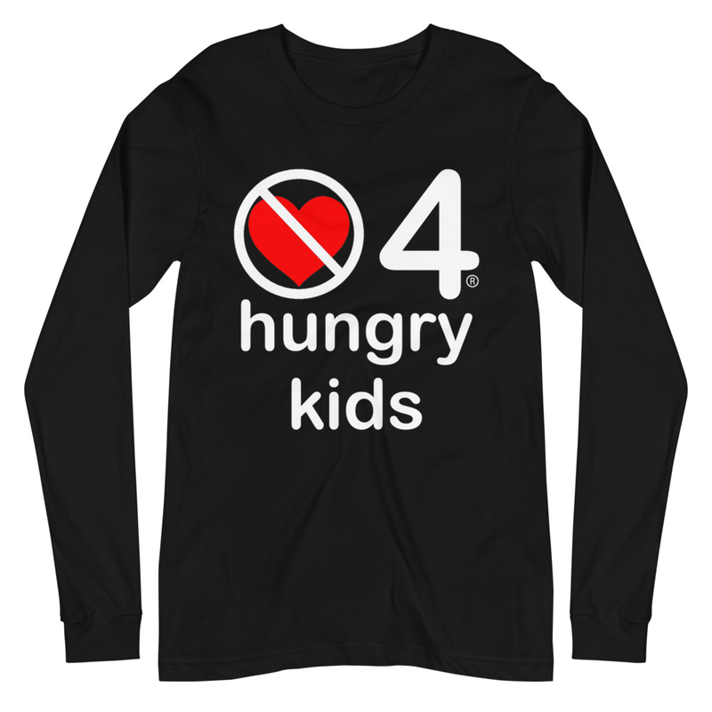 no love 4 hungry kids - Black Unisex Long Sleeve Tee