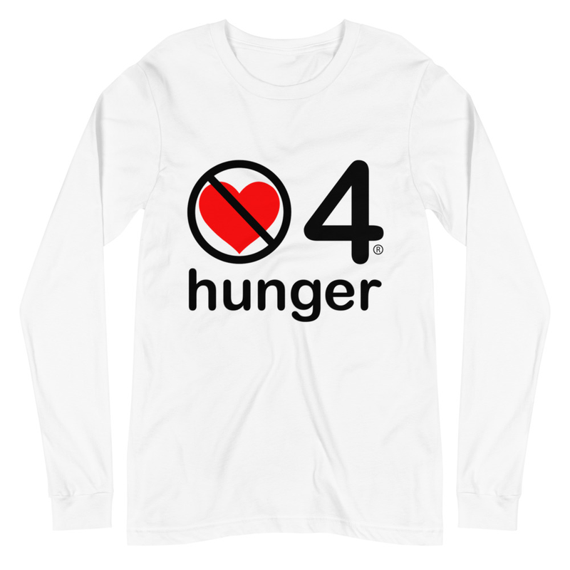 no love 4 hunger - White Unisex Long Sleeve Tee
