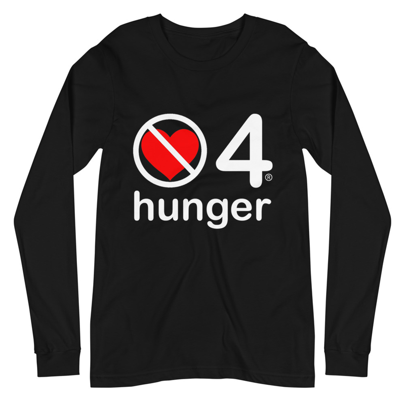 no love 4 hunger - Black Unisex Long Sleeve Tee