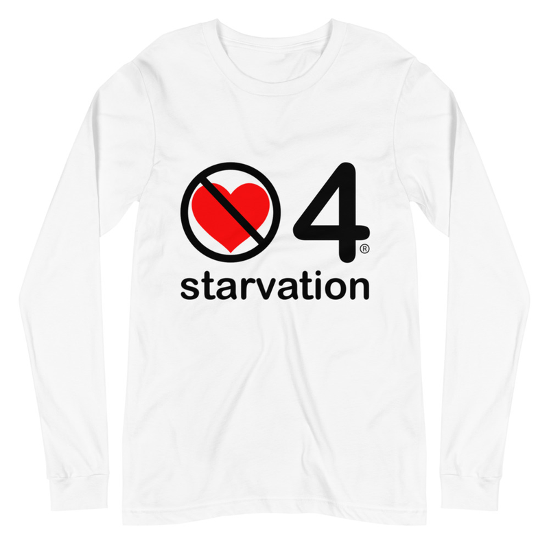 no love 4 starvation - White Unisex Long Sleeve Tee