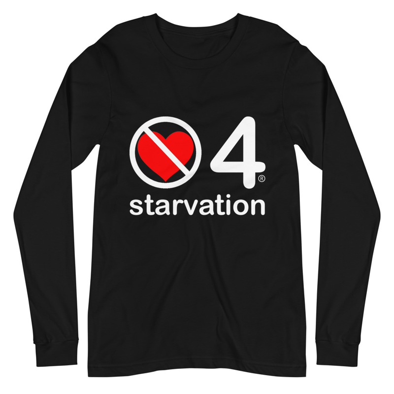no love 4 starvation - Black Unisex Long Sleeve Tee