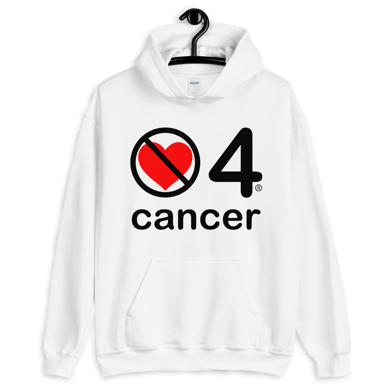 no love 4 cancer - White Unisex Hoodie