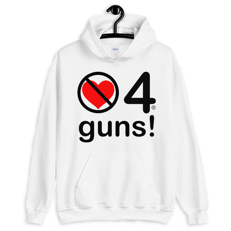 no love 4 guns! - White Unisex Hoodie
