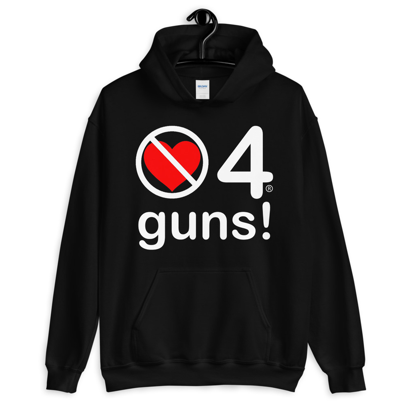 no love 4 guns! - Black Unisex Hoodie