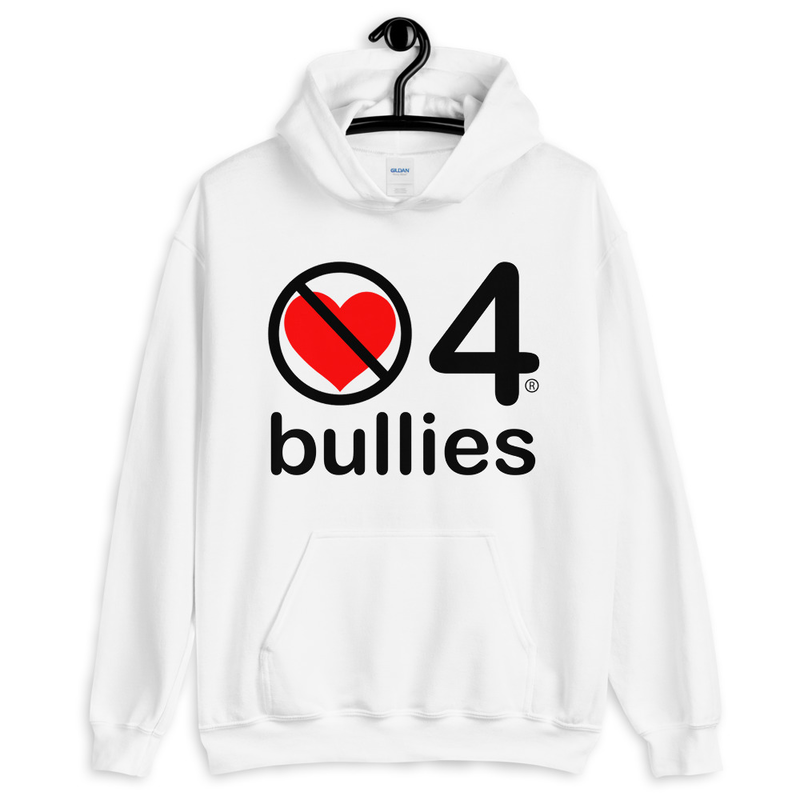 no love 4 bullies - White Unisex Hoodie