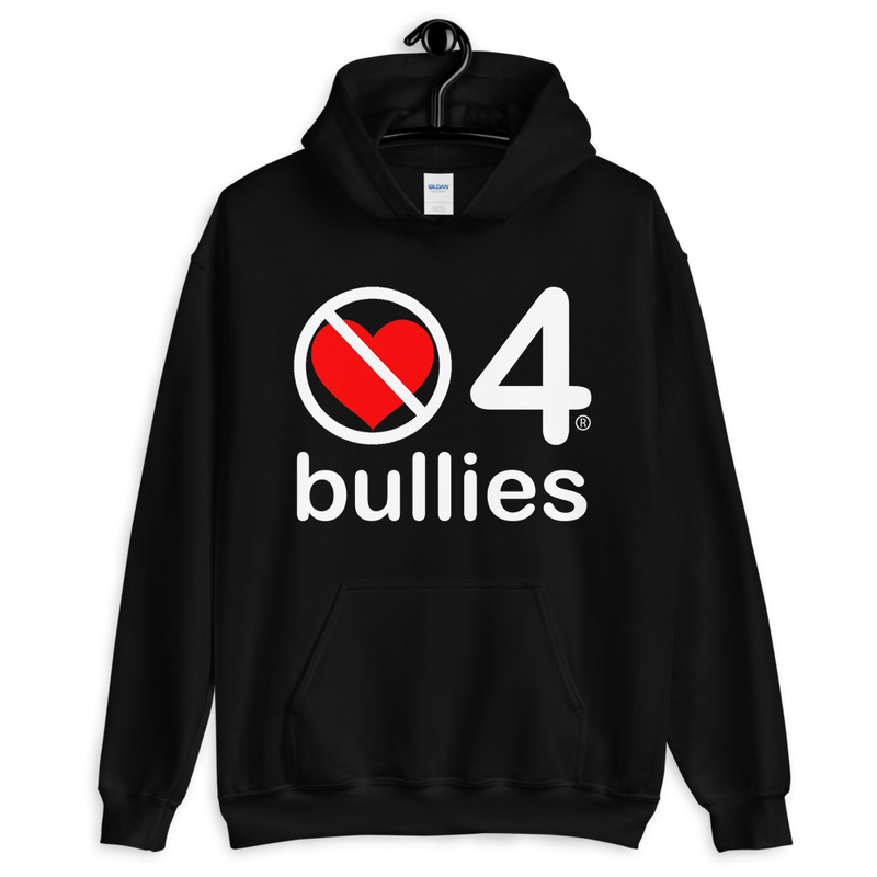 no love 4 bullies - Black Unisex Hoodie