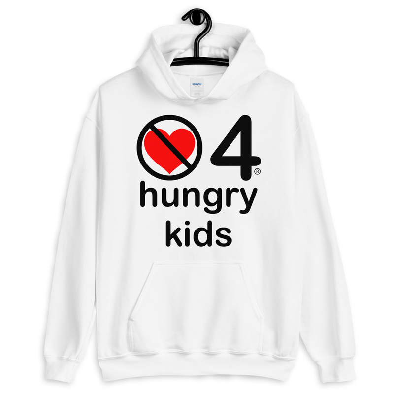 no love 4 hungry kids - White Unisex Hoodie