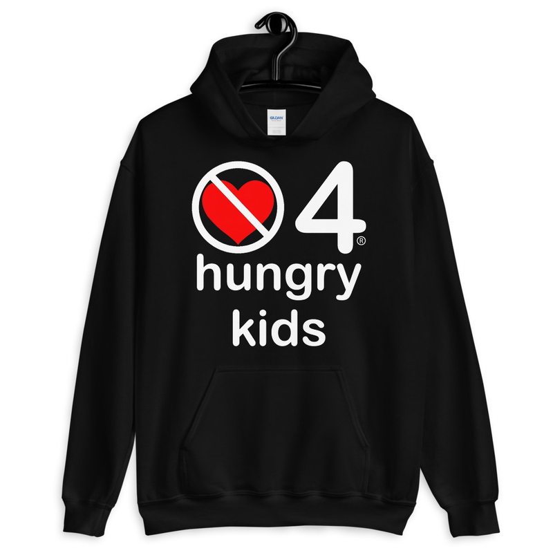 no love 4 hungry kids - Black Unisex Hoodie