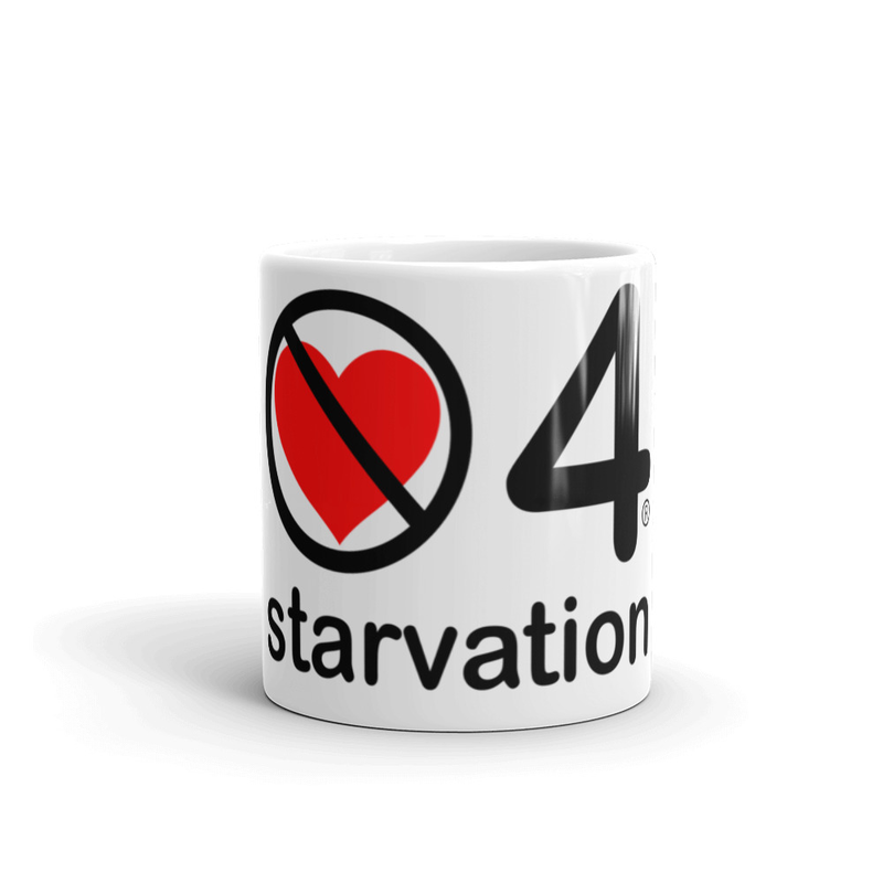 no love 4 starvation - Mug