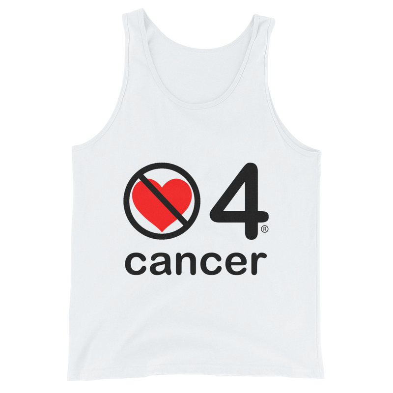 no love 4 cancer - White Unisex Tank Top