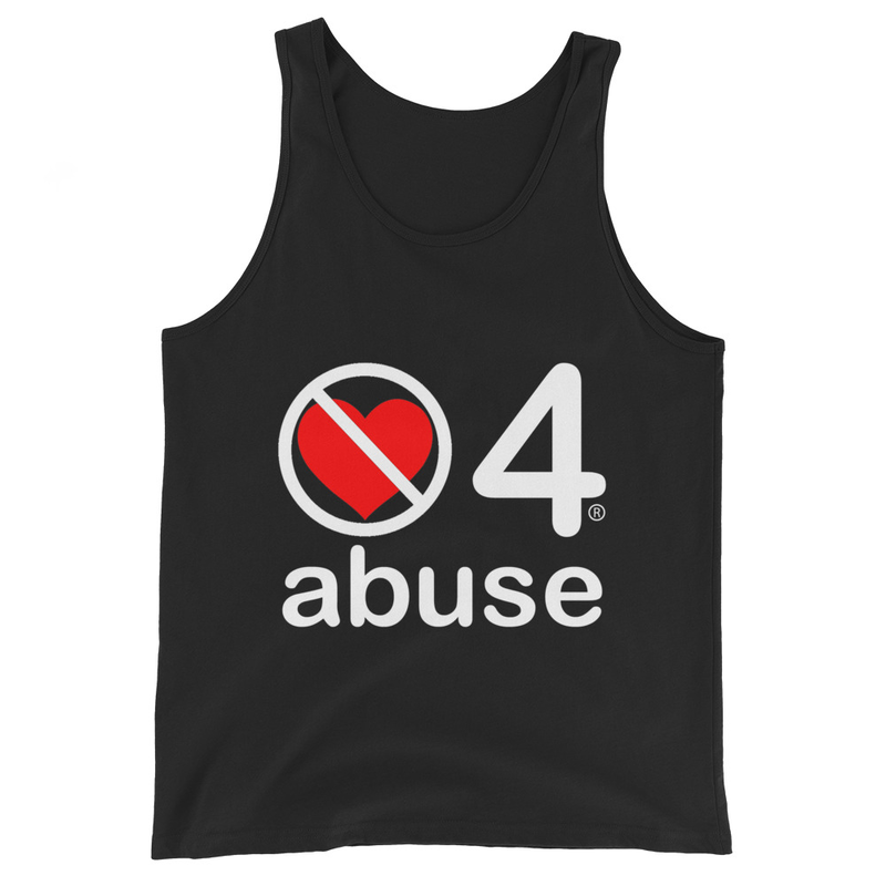 no love 4 abuse - Black Unisex Tank Top