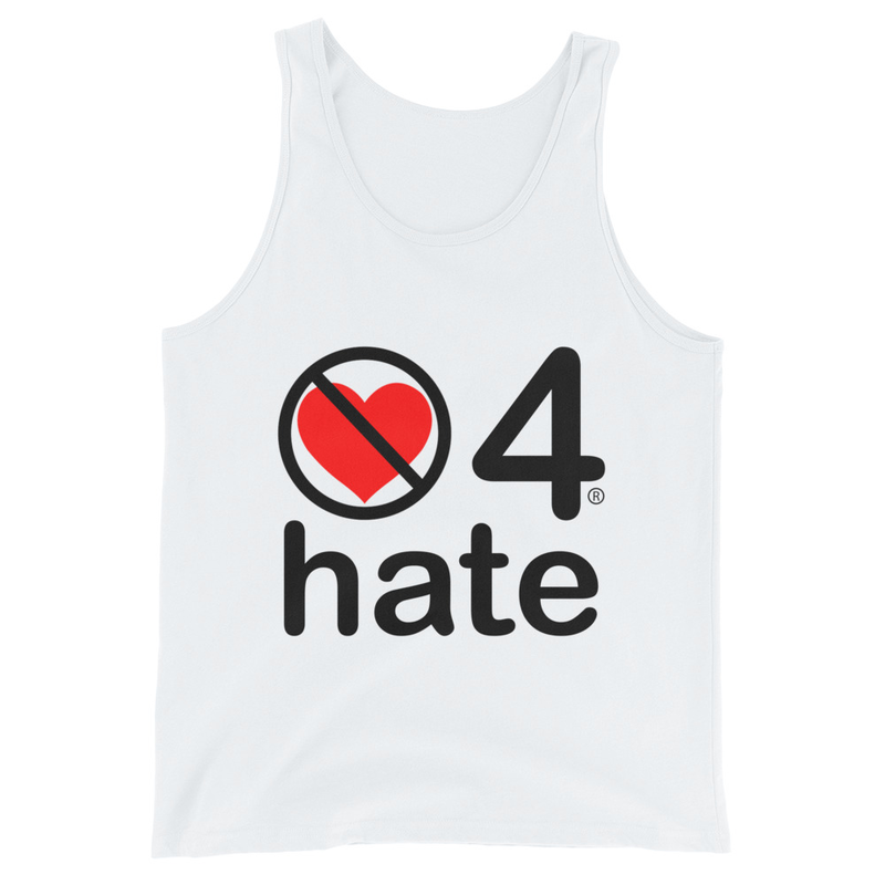 no love 4 hate - White Unisex Tank Top