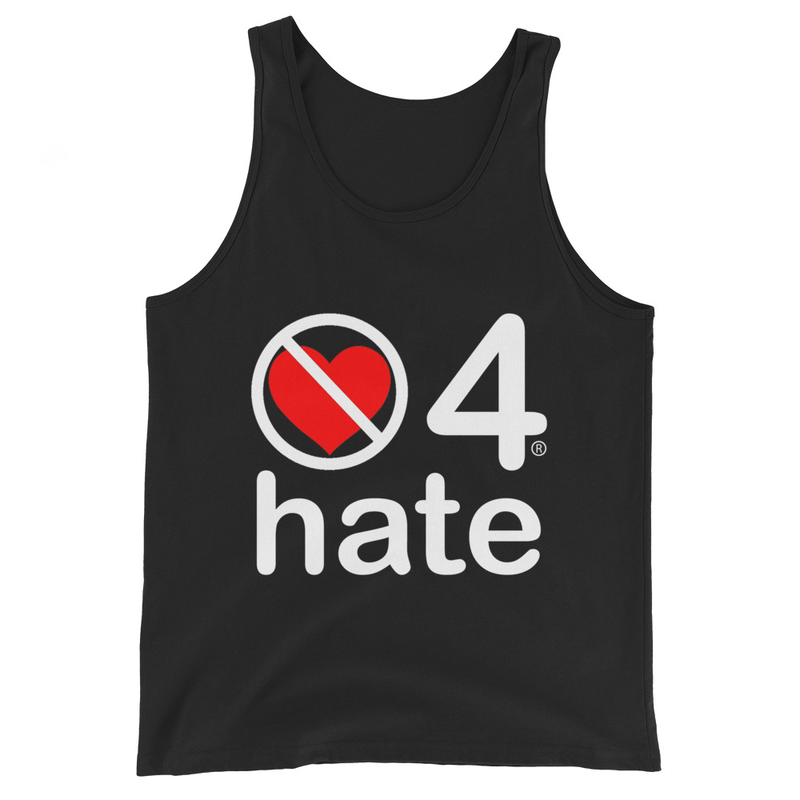 no love 4 hate - Black Unisex Tank Top