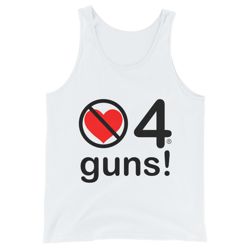 no love 4 guns! - White Unisex Tank Top
