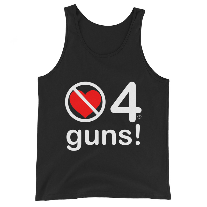 no love 4 guns! - Black Unisex Tank Top