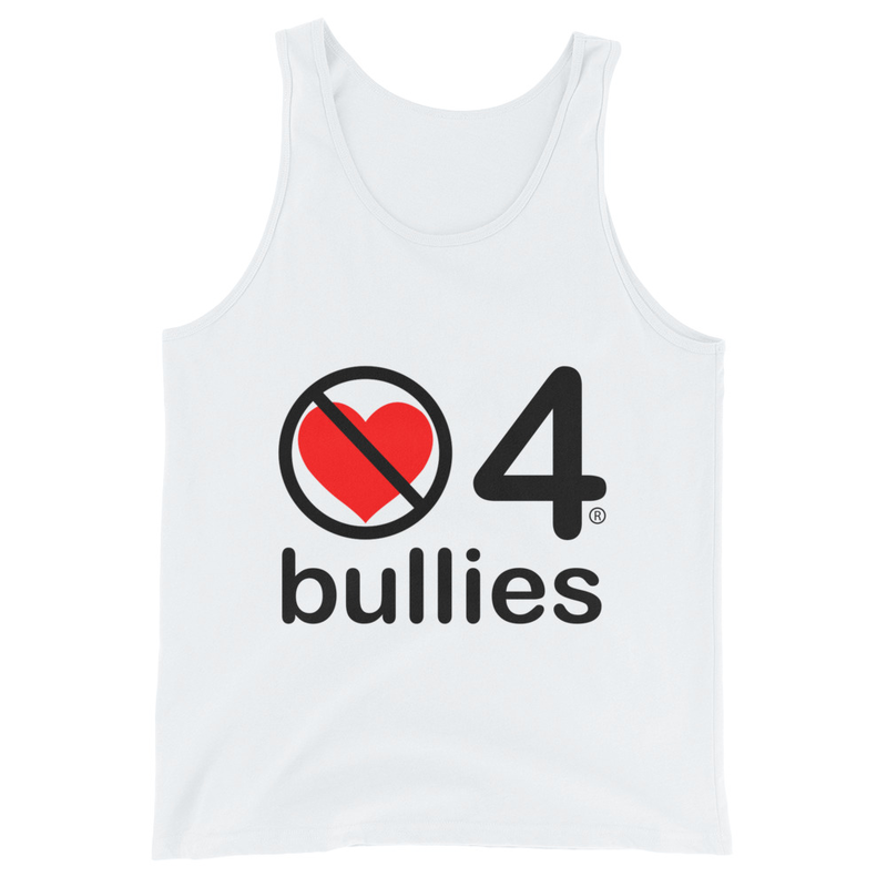 no love 4 bullies - White Unisex Tank Top