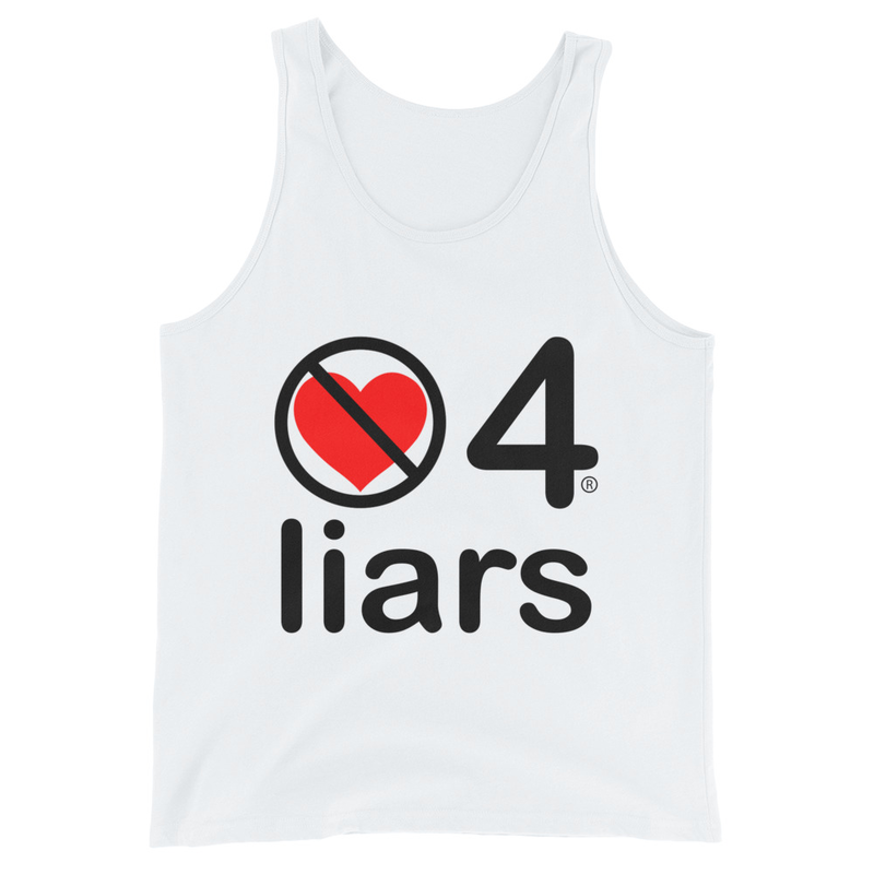 no love 4 liars - White Unisex Tank Top