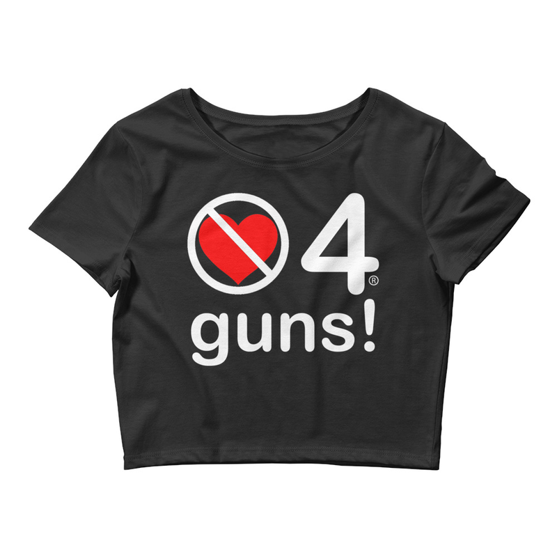 no love 4 guns! - Black Women's Crop Tee