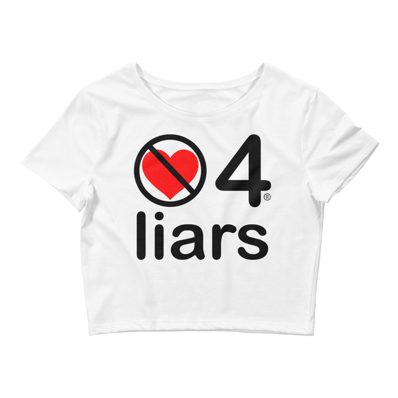 no love 4 liars - White Women's Crop Tee