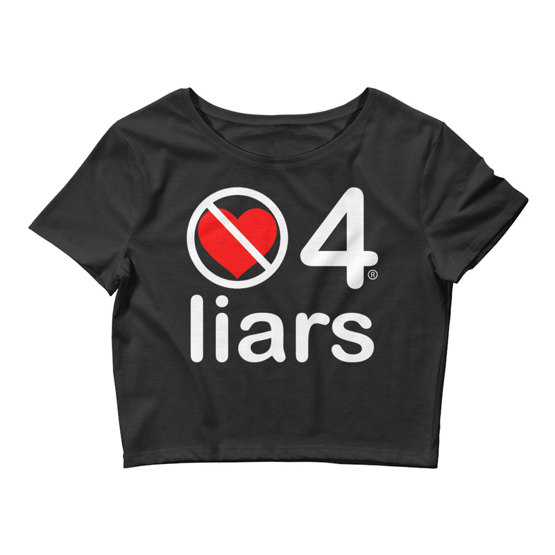 no love 4 liars - Black Women's Crop Tee