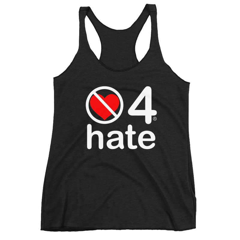 no love 4 hate - Black Women's Racerback Tank