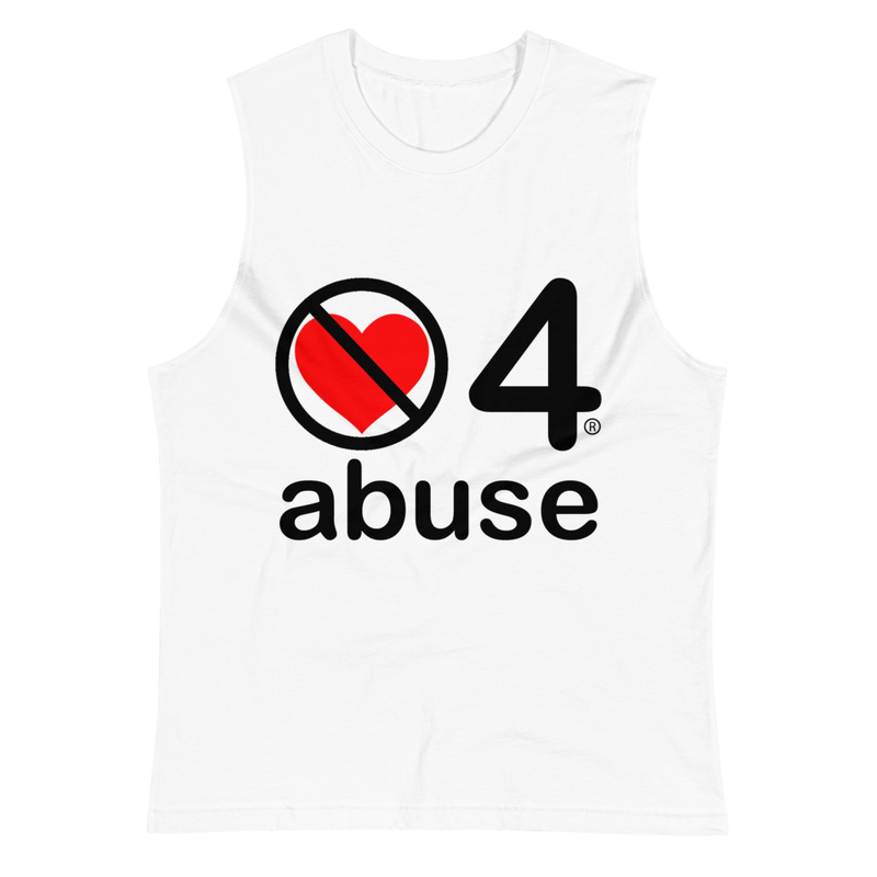 no love 4 abuse - White Muscle Shirt