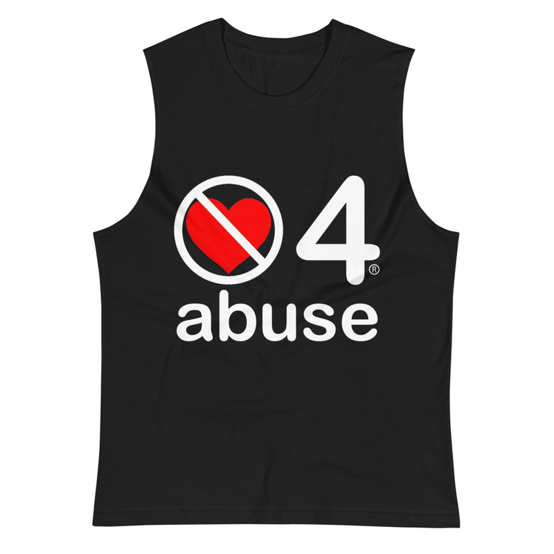 no love 4 abuse - Black Muscle Shirt