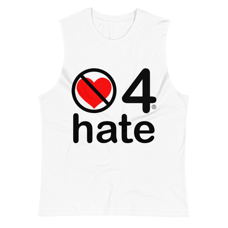 no love 4 hate - White Muscle Shirt