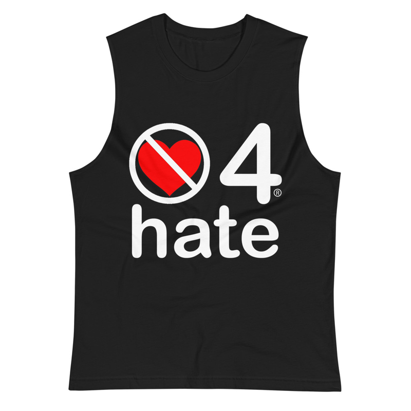 no love 4 hate - Black Muscle Shirt