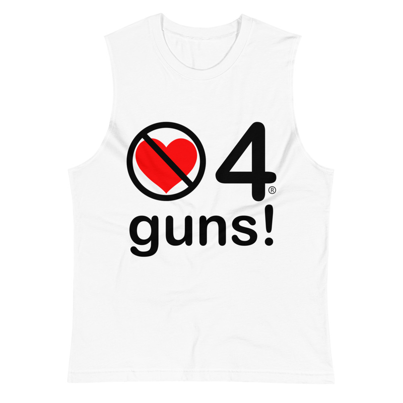 no love 4 guns! - White Muscle Shirt