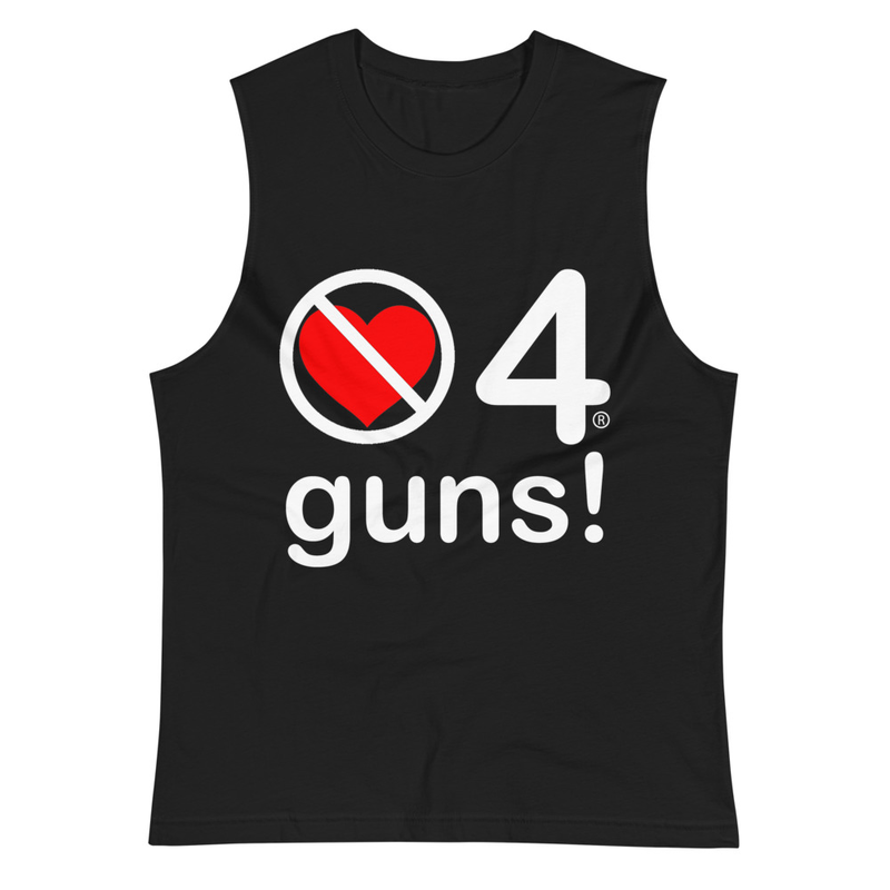 no love 4 guns! Black Muscle Shirt